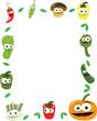 Funny Vegetables Vector Frame