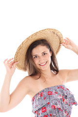 Smiling woman in summer fashion