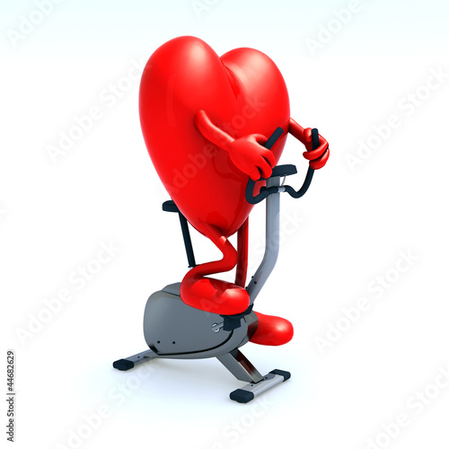 heart riding a bicycle