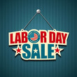 Labor day signs, vector illustration