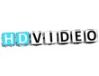 3D HD Video Button Click Here Block Text