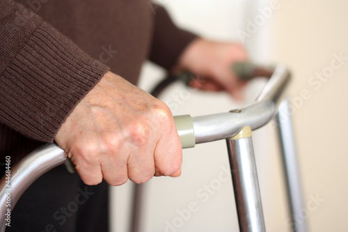 Senior using a walker