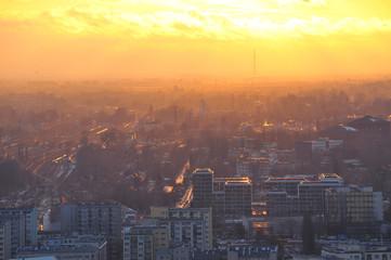 Warszawa zachód słońca