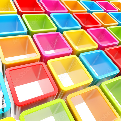 Colorful cube cell composition as abstract background © Dmitri Stalnuhhin