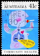 AUSTRALIA - CIRCA 1990 Quit smoking