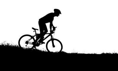 vector silhouette of a biker