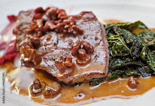 Veal with mushrooms