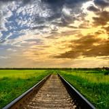 Fototapety Railway into the sunset