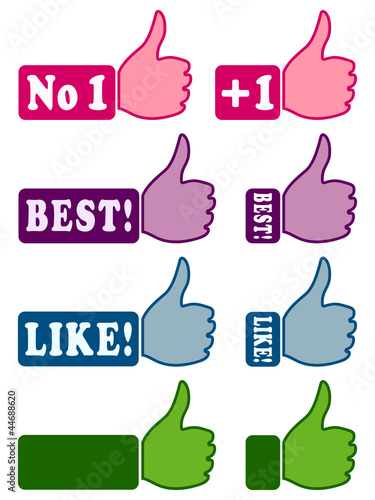 Web icons with thumb up 1