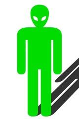 Icono alien verde.