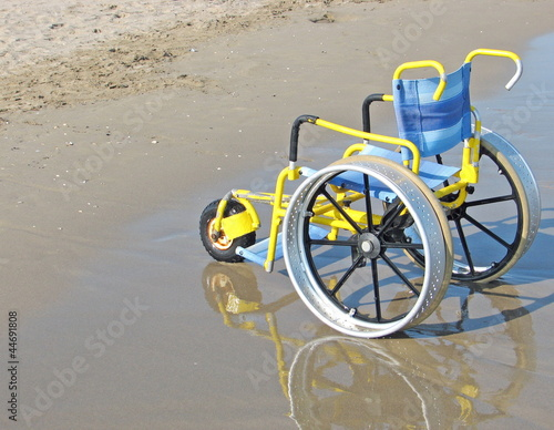 wheelchair designed specifically for use on the Sea Beach