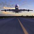 l�dowanie samolotu ilustracji 3D