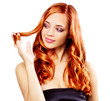 Portrait of beautiful redhaired girl isolated on white