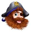 Pirate face illustration