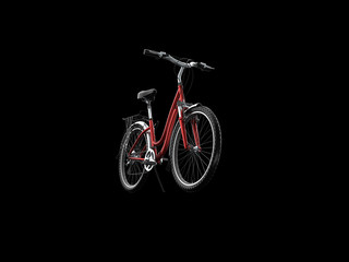 3D mountain bike on black background