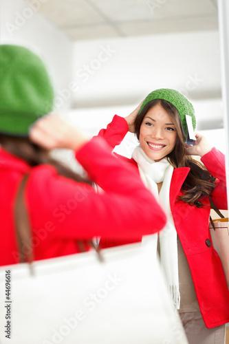 Fall / Winter shopping woman