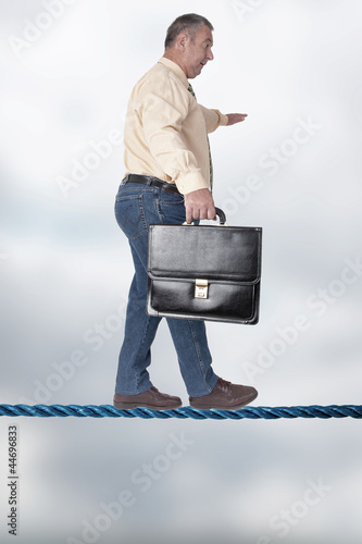 Man balancing on the high wire