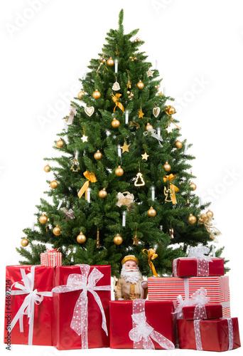 weihnachtsbaum mit roten geschenken von picture factory. Black Bedroom Furniture Sets. Home Design Ideas
