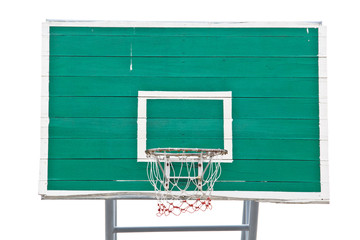 Green basket ball field