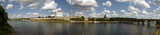 Panorama of the city of Pskov  and the Kremlin poster