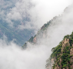 Cloudscape of  Huangshan. Foggy day, Huang Shan
