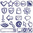 Set of nternet web icons