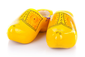traditional netherlands yellow shoes
