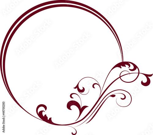 decorative oval frame for design