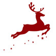 Vector illustration of a red reindeer - 44700451