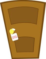 Do not disturb door