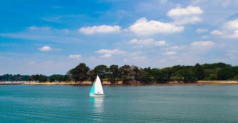 Boat in the sea , Bretagne.