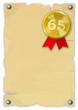 Urkunde 65 Jahre