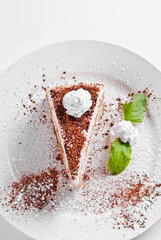 tiramisu  with cacao
