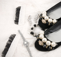 The beautiful accessories and shoes