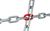 chain links isolated on a white background