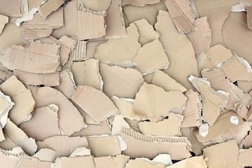 Textura de trozos de cartón