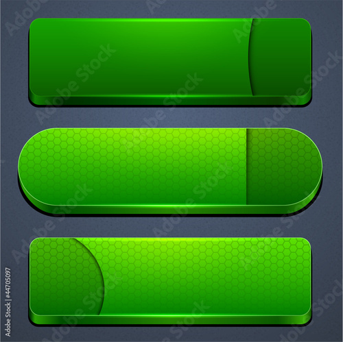 Green high-detailed modern web buttons.