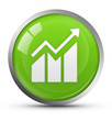 Glossy business graph icon