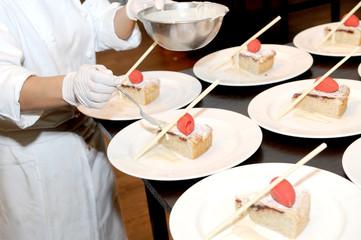 chef and dessert