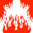 Burn flame fire vector background