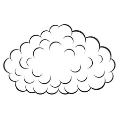 Cloud , vector illustration