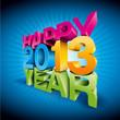 happy new year 3d