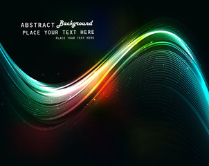 abstract  bright colorful wave vector background