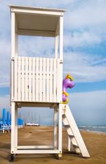 Torretta di guardia sulla spiaggia