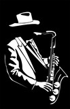 Vector image of the saxophonist