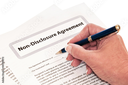Non Disclosure Agreement Isolated on White
