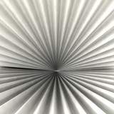 Radial abstract radial black white shaded shape background poster