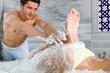 Foot Massage at Turkish Bath