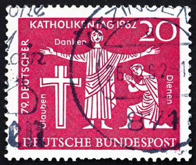Postage stamp Germany 1962 Faith, Thanksgiving, Service