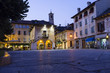 Orta main square late afternoon color image